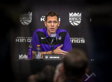Sacramento Kings head coach, Luke Walton.