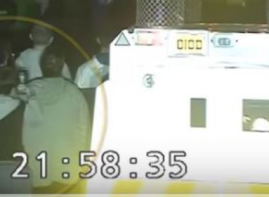 CCTV footage showing McKee before she was fatally shot.