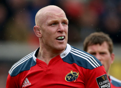 Former Munster second row Paul O'Connell.