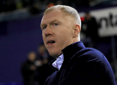 Scholes recently had a brief spell in charge of Oldham Athletic.
