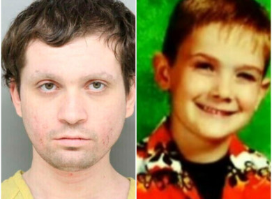 (L) Undated photo of Brian Rini who claimed to be Timmothy Pitzen (R), who disappeared in 2011 at age 6