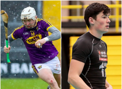 Wexford hurler Rory O'Connor and his cousin, county footballer Barry O'Connor.