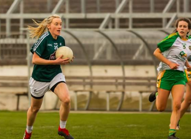 Siobhan O'Sullivan in action for her adopted county.