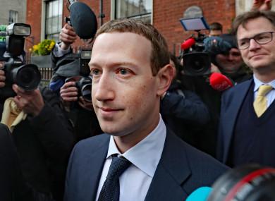 Mark Zuckerberg in Dublin today