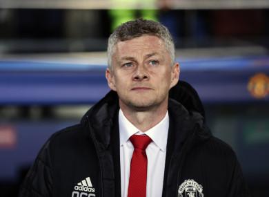 Manchester United coach Ole Gunnar Solskjaer (file pic).
