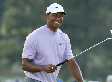 Tiger Woods on day three of the Masters.