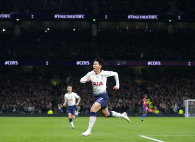 Son Heung-Min scored the opening goal for Tottenham against Palace.