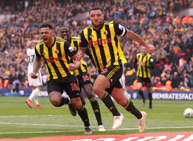 Deeney levelled from the penalty spot in stoppage time.