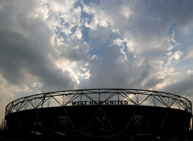 A general view of West Ham's home stadium.