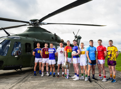 Players at the recent Leinster senior football launch.