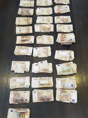 The sum of money seized.