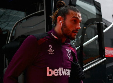 West Ham striker Andy Carroll.