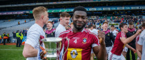 Boidu Sayeh pictured after Westmeath's recent Division 3 final against Laois.