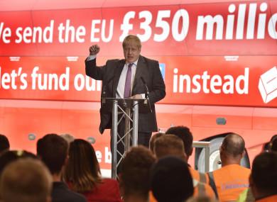 Boris Johnson campaigned for Brexit prior to the referendum