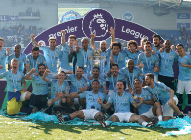 City sealed the 2018/19 Premier League title yesterday.