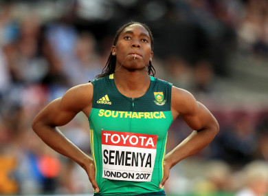 Caster Semenya (file pic).