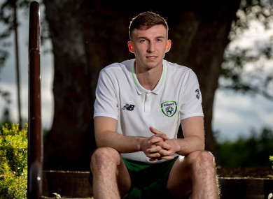 Conor Masterson pictured at the Ireland U21 training camp in Enfield.