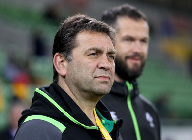 Nucifora with incoming head coach Andy Farrell.