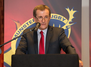 File photo: Fitzgerald at Munster's 2016 awards ceremony.