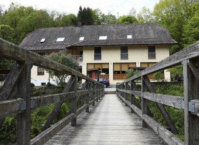 A guesthouse is pictured at the river 'Ilz' in Passau, Germany where police are investigating the mysterious death of three people