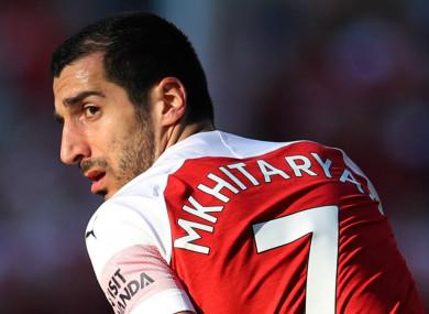 Arsenal's Henrikh Mkhitaryan.