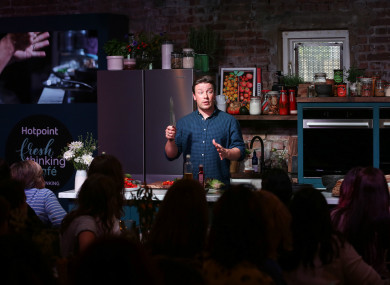 Jamie Oliver at the opening of an unusual café in East London (October 2018).