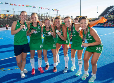 Ireland players celebrating in London last summer.