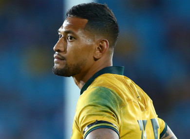 Fired: Australian rugby player Israel Folau.
