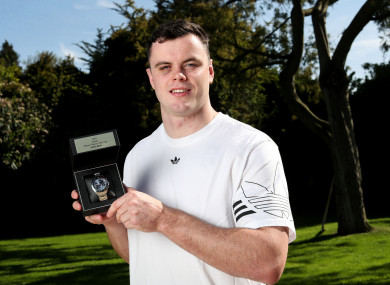 The Leinster man is the 2019 Players' Player of the Year.