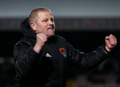 Cork City Interim Manager John Cotter celebrates (file pic).