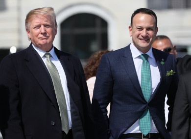 Taoiseach Leo Varadkar with US President Donald Trump after attending a Speaker's Lunch on Capitol Hill in Washington D.during his visit to the US in March