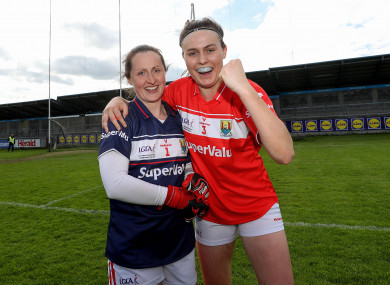 Winner winner: Martina O'Brien and Hannah Looney were both honoured.