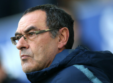 Maurizio Sarri is preparing his side for next week's Europa League final.