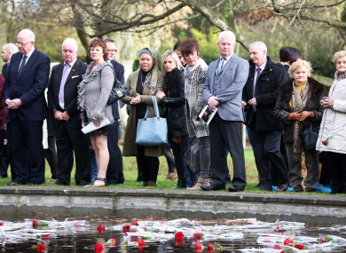 Families attending the 2017 Missing Persons Day ceremony in Dublin.