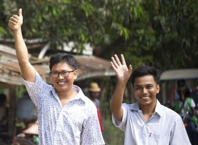 Wa Lone (L) and Kyaw She Oo (R)