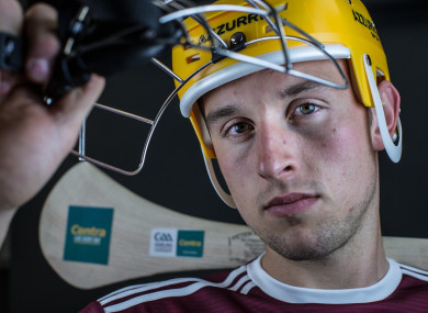 Galway forward Niall Burke is pictured at Centra's launch of the GAA All Ireland Hurling Championship.