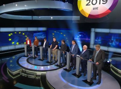 There were eight candidates in the RTÉ studios this evening.