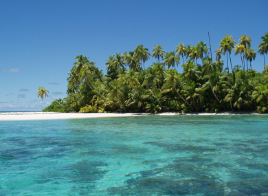 The Salomon Atoll on the Chagos Archipelago.