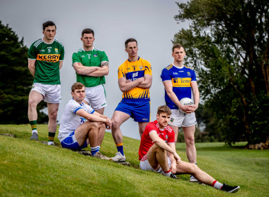 Paul Murphy,, Brian Looby, Iain Corbett, Eoin Cleary, Ian Maguireand Conor Sweeney at the Munster SFC launch.