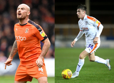 Luton have released Irish duo Alan McCormack (left) and Jack James.