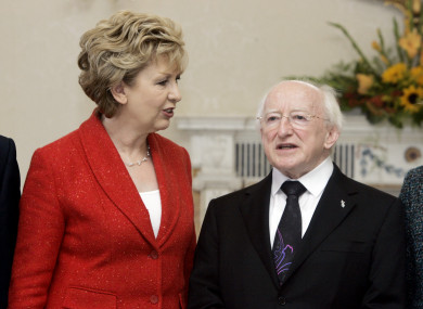 Presidents Mary McAleese and Michael D Higgins: Right to Know sought information about their use of a government jet service