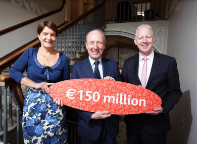 Orla Carroll, Director Product Development Failte Ireland, Minister for Transport, Tourism and Sport Shane Ross TD and Paul Kelly, CEO Failte Ireland