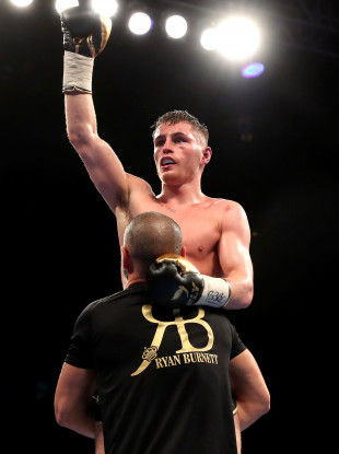 Burnett stopped his Filipino opponent to the body in a polished display (file pic).