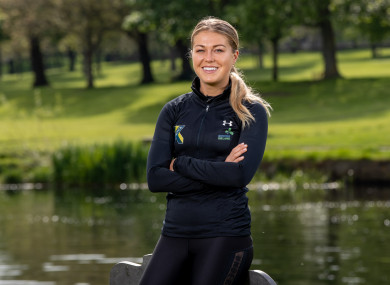 Sarah Rowe at yesterday's Rowing Ireland announcement.