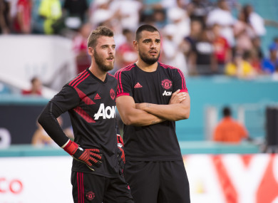 De Gea and Romero.