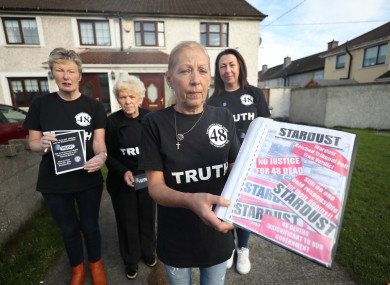 (l to r) June McDermott Carroll, Christine Keegan, Antoinette Keegan and Selina McDermott are among the campaigners calling for fresh inquests