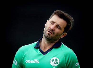 Ireland's Tim Murtagh shows his frustration.