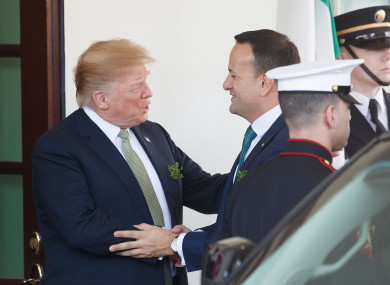 Trump and Varadkar meeting at the White House.