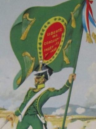 An Irish Legion Colour bearer