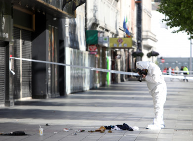 Garda Technical Bureau at the scene on O'Connell Street Dublin